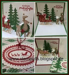 Pop Up Karte Weihnachten : pop up karte weihnachtsschlitten stampin up ideen team conibaer pinterest popup karten ~ Buech-reservation.com Haus und Dekorationen