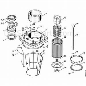 Stihl Se 100 Vacuum Cleaner  Se100  Parts Diagram  D