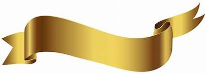 Banner Transparent Gold Background Clipart Ribbon Banners