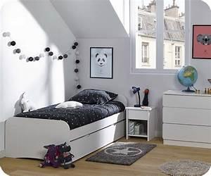 Chambre Enfant Moderne : chambre enfant twist blanche set de 3 meubles ~ Teatrodelosmanantiales.com Idées de Décoration