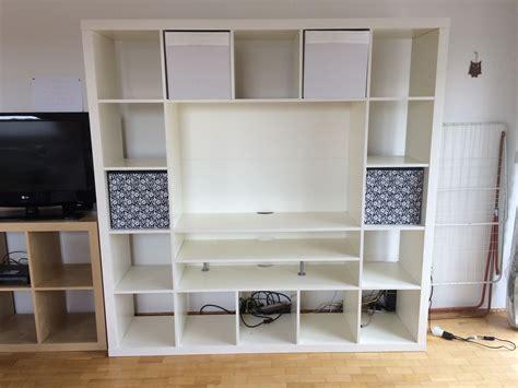 Ikea Fernsehschrank Weiss gebraucht ikea expedit regal fernsehschrank wei 223 in