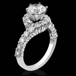 twisted engagement ring with wedding band perfectly designed twist and loop setting with endless diamonds and 6 secure prongs bbr387
