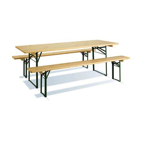 table pliante bois 2 bancs 200 x 70 cm coloris pin 7200 imagin home boulevard