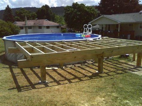 ground pool deck framing agp deck question