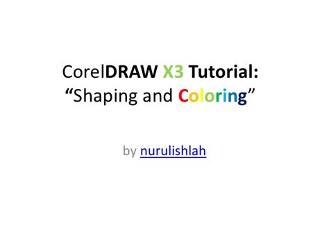 shaping  coloring  coreldraw