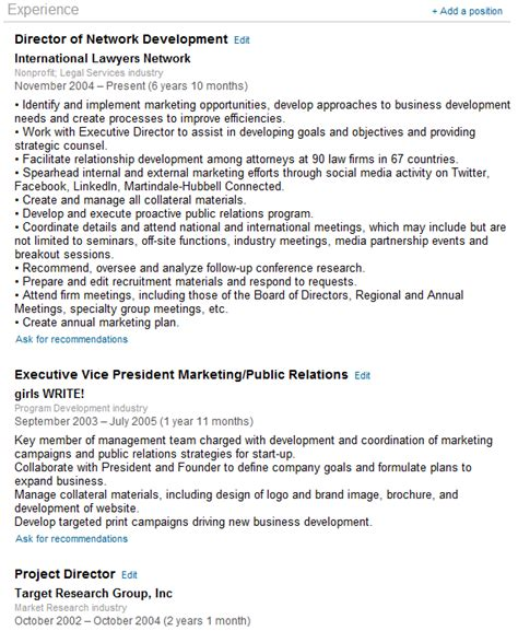 What To Say In Profile Of Resume by Linkedin Tutorials How To Set Up A Profile Part Ii Zen