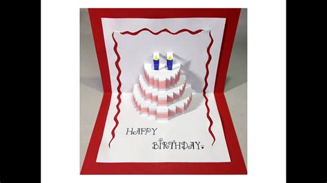happy birthday cake pop  card tutorial youtube