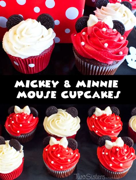 4th Of July Cake Decorating Ideas by Mickey Amp Minnie Mouse Cupcakes Two Sisters Crafting