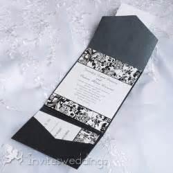 and white wedding invitations pocket wedding invitations cheap invites at invitesweddings