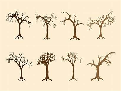 Tree Dead Trunk Vector Clip Silhouettes Graphics