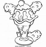 Sandwich Coloring Ice Cream Printable Getdrawings Getcolorings sketch template