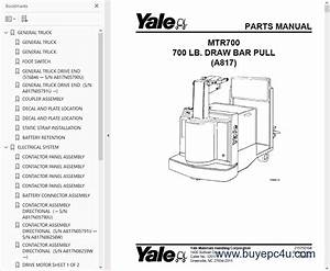 Yale Industrial Trucks For Usa Parts Manuals 2017