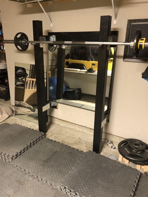 custom wooden folding squat rack  garage gym squat rack squats gym rack