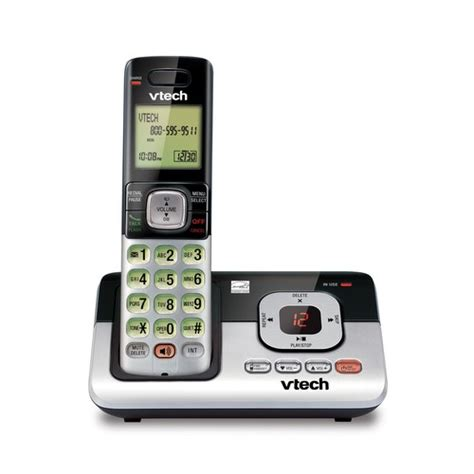 vtech phone battery cordless answering system with caller id call waiting