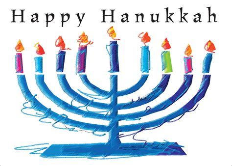 Hanukkah Menorah Blessings  Hanukkah Greeting Cards By