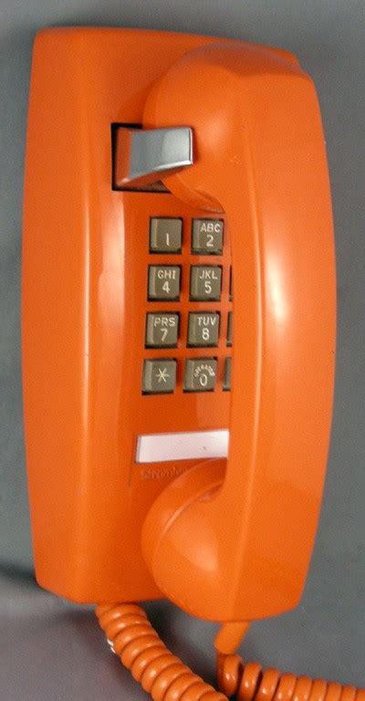 oldphoneworks antique phones colour orange