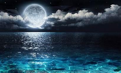Moon Pisces Night Sea Energy Panorama Working