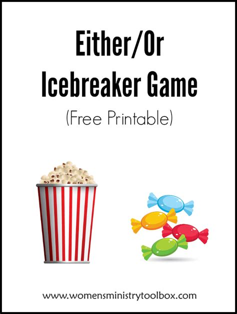 eitheror icebreaker game womens ministry toolbox