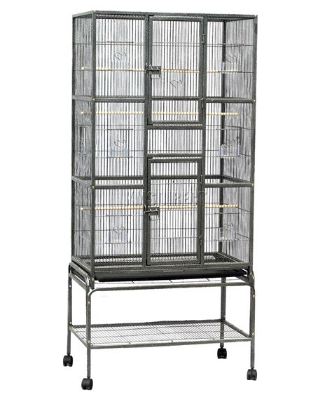 large metal bird cage foxhunter large metal bird cage stand aviary parrot budgie 6813