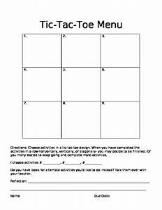 tic tac toe project template gallery template design ideas With tic tac toe menu template