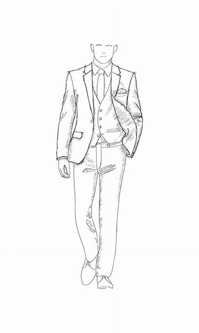Tuxedo Sketch Formal Wear Tailor Jantzen Tux