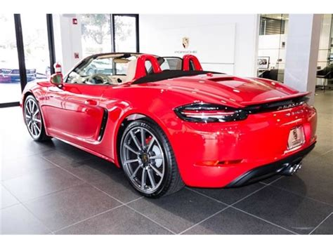 Used 2020 porsche 718 cayman gt4 with rwd, power package, sound package plus, navigation system, dvd, keyless entry, spoiler, leather seats, heated seats, 20 inch wheels, and bose sound system. 2017 Porsche 718 Boxster For Sale | GC-18246 | GoCars