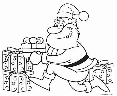 Coloring Santa Printable Colouring Father Claus Sheet
