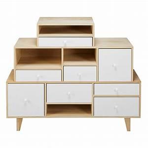 Cabinet Maison Du Monde : white paulownia 8 drawer destructured cabinet spring maisons du monde ~ Teatrodelosmanantiales.com Idées de Décoration