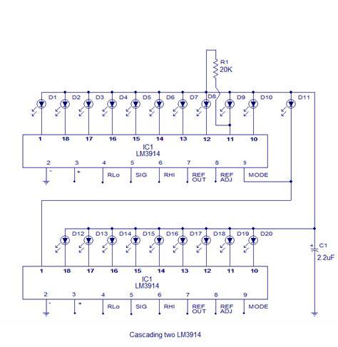Battery Level Indicator Circuit Led Bargraph
