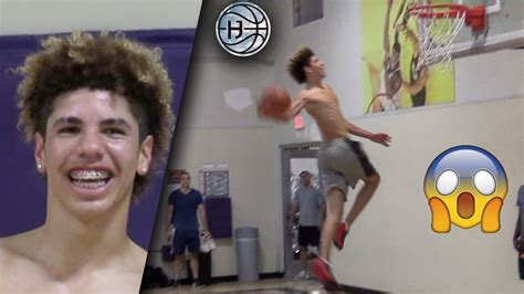 lamelo ball crazy windmill dunk  week  dropping