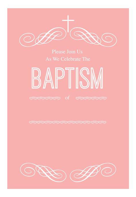 Pink Decorations Free Printable Baptism & Christening