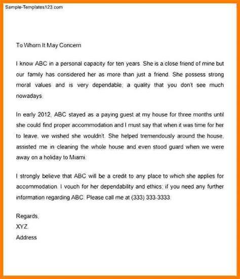 immigration letter  support   family member