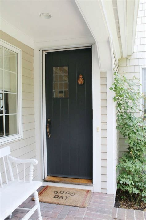 Sherwin Williams Iron Ore Front Door Update  Before And After