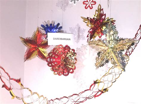 christmas xmas festive hanging ceiling fan decorations