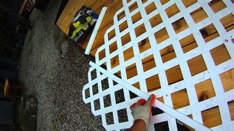 deck building p   install lattice   deck youtube