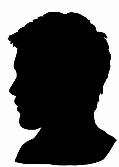 Silhouette Face Head Clip Young Clipart Boy