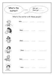 english teaching worksheets whats  matter