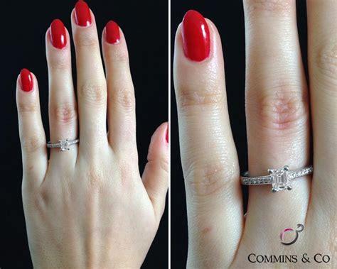 carat emerald cut engagement ring sd ireland