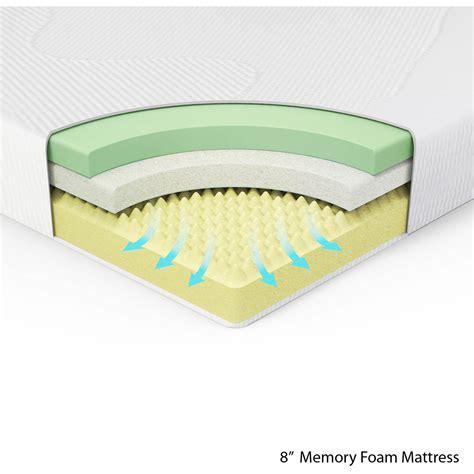 memory foam spa sensations 8 quot memory foam mattress size ebay