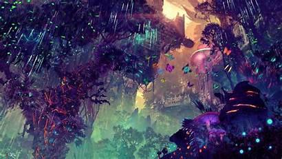 Digital Fantasy Landscape Science Fiction 4k Glowing