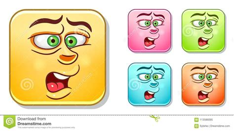 Disgusted Emoticons Collection Stock Vector