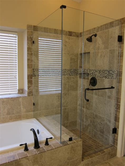 shower  tub master bathroom remodel traditional