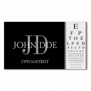 Optometrist chart black business cards eye doctor for Optometrist business card