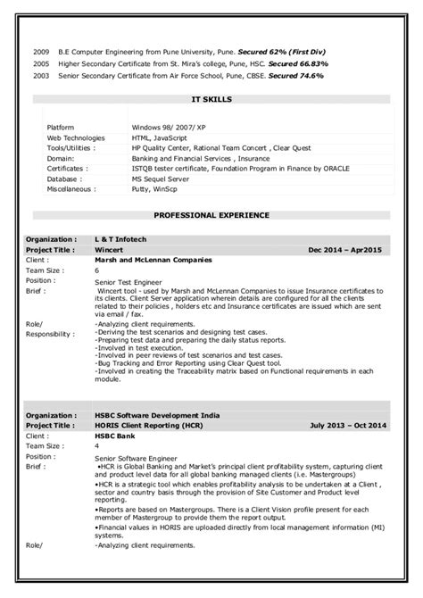 Istqb Certified Tester Resume by Niyati Manual Testing Istqb Certified Resume