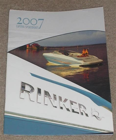 Rinker Boat Parts Manuals by Sell Original 2007 Rinker Boat Captiva Sportsboats