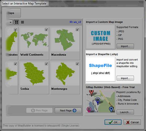 import shapefile  generate  map  imapbuilder software