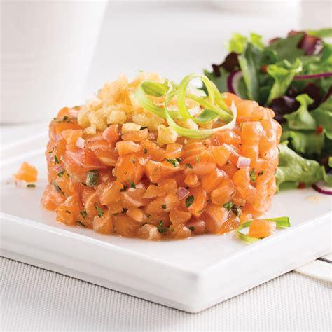 tartare cuisine tartare de saumon et croustillant de tempura recettes