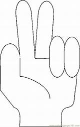 Fingers Coloring Sign Pages Printable Hands Feet Coloringpages101 Pdf sketch template