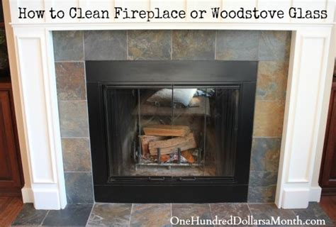 how to clean fireplace glass how to clean fireplace or woodstove glass