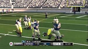 NCAA 14 GAMEPLAY NOTRE DAME VS MICHIGANCPU YouTube